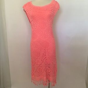Lily Pulitzer ADABELLE Yummy Melon crochet dress